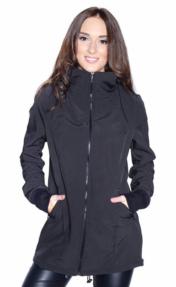 kurtka softshell 3D ciążowa i do noszenia dziecka M52/4068 czarny 4