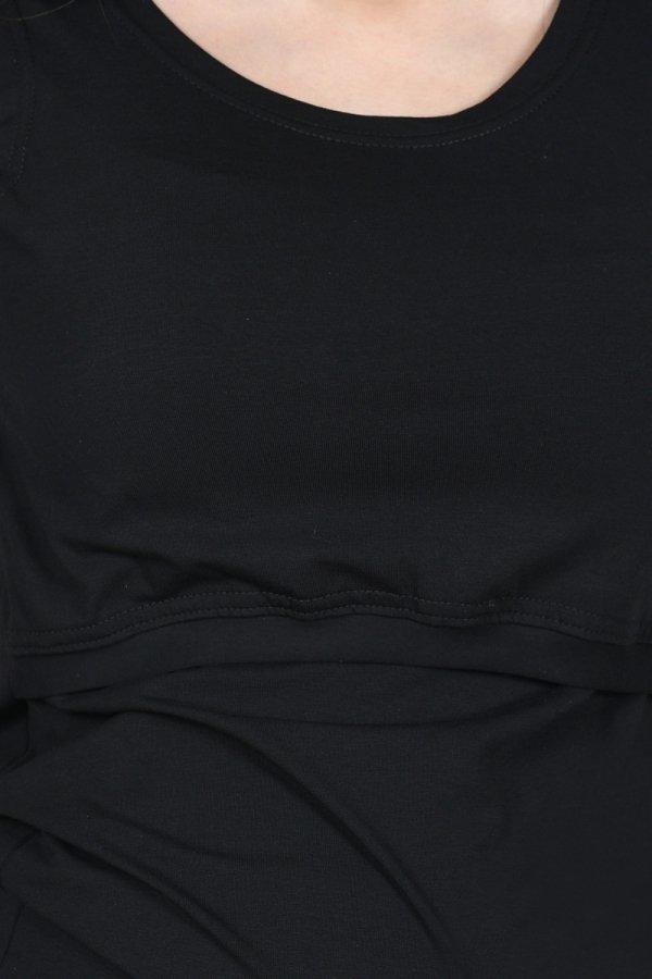 MijaCulture - top 2 w 1 ciążowy i do karmienia M005 Betty czarny