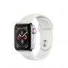 Apple Watch Series 4 / GPS + LTE / Koperta 40mm ze stali nierdzewnej w kolorze srebrnym / Pasek sportowy w kolorze białym