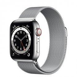 Apple Watch Series 6 40mm GPS + LTE (cellular) Stal nierdzewna w kolorze srebrnym z bransoletą mediolańską w kolorze srebrnym