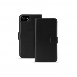 PURO Booklet Wallet Case - Etui z klapką do iPhone 7 - Black (czarny)