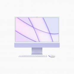 Apple iMac 24 4,5K Retina M1 8-core CPU + 8-core GPU / 16GB / 256GB SSD / Gigabit Ethernet / Fioletowy (Purple) - 2021