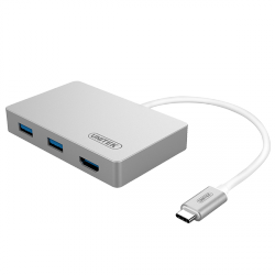 Unitek USB-C Multiport HUB HDMI / USB 3.0 / USB-C (Power delivery) Space Gray