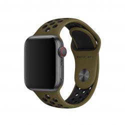 Apple pasek sportowy Nike w kolorze oliwkowym do Apple Watch 38/40 mm - Rozmiar S/M i M/L