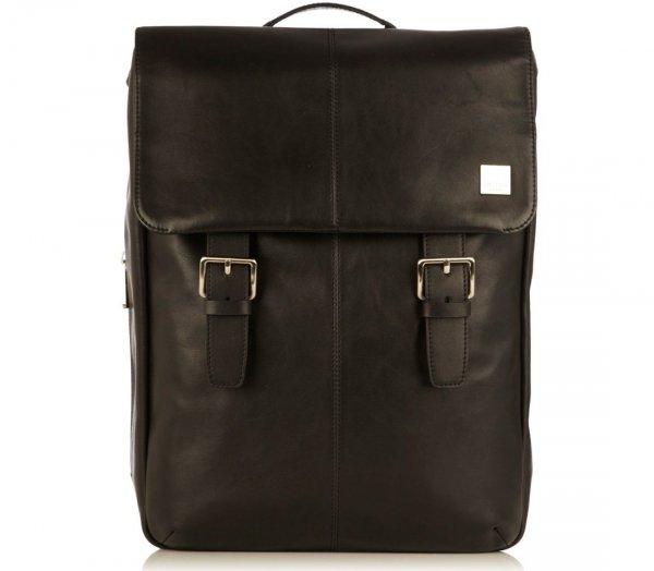 """Knomo Hudson - plecak skórzany do notebooka 15"""" (czarny) 54-400-BLK"""