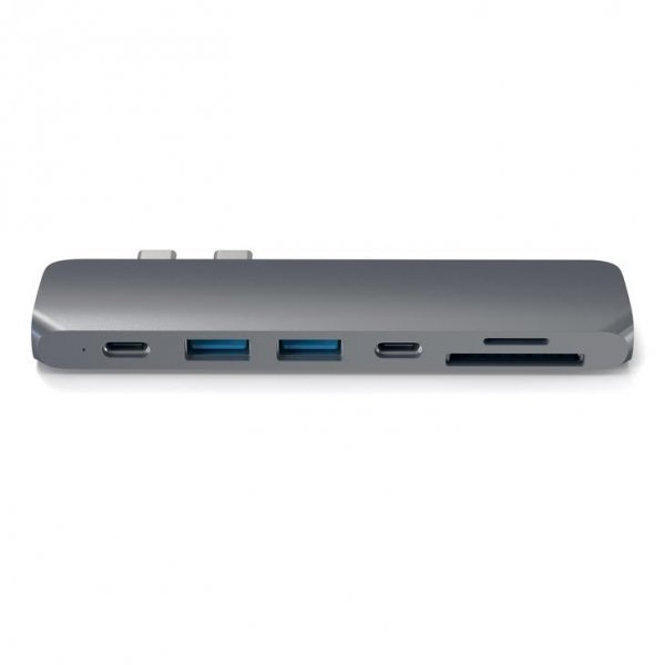 Satechi PRO USB-C HUB - Thunedrbolt 3 / HDMI / USB 3.0 / USB-C / SD / microSD / Space Gray