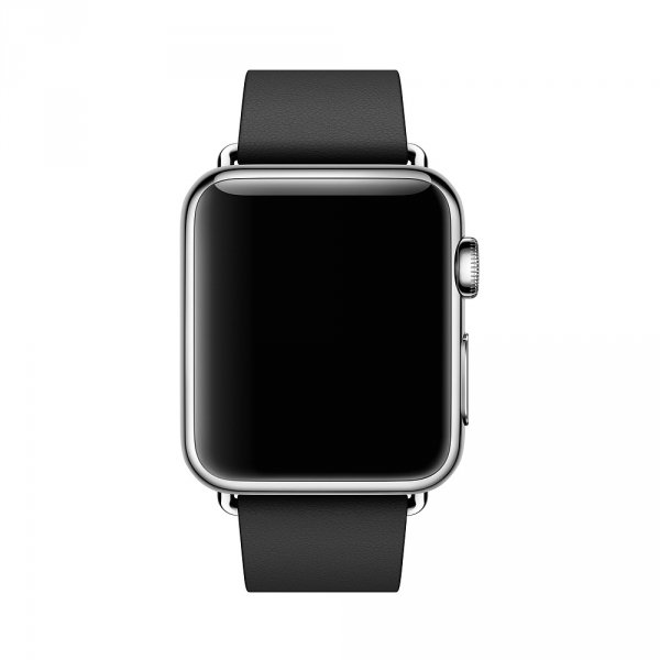 Apple Watch 38mm Stainless Stell Classic Buckle Black Leather