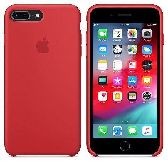 c69017e75d8c7a Etui silikonowe do Apple iPhone 7 8 Plus Red (czerwony) - Etui ...