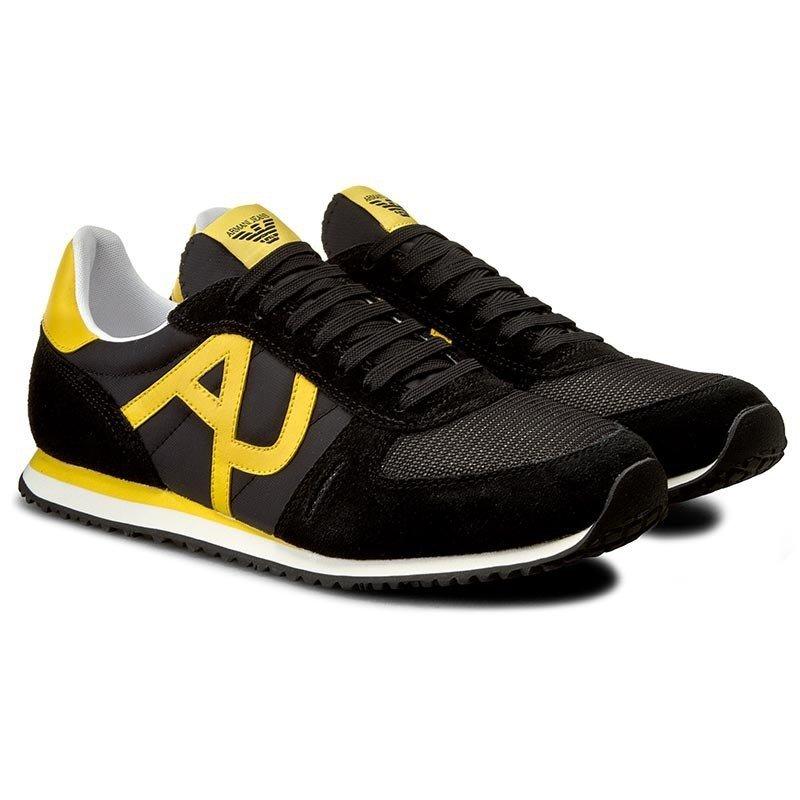 e495fcc516814 Armani Jeans buty męskie sportowe czarne - WYPRZEDAŻ