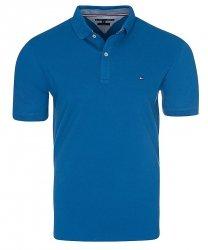 Tommy Hilfiger koszulka polo polówka męska Slim Fit niebieska