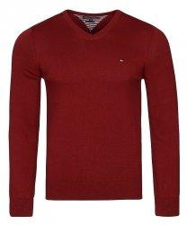 Tommy Hilfiger sweter męski bordowy