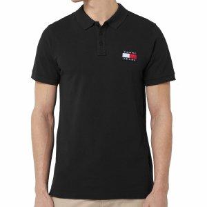 Tommy Jeans Hilfiger  koszulka polo polówka męska Slim Fit czarna