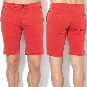 Pepe Jeans krótkie spodnie męskie szorty jeansowe czerwone PM800523-240
