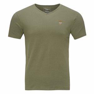 Aeronautica Militare t-shirt koszulka v-neck męska khaki