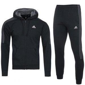 Adidas męski sportowy dres komplet czarny