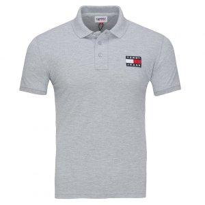 Tommy Jeans Hilfiger koszulka polo polówka męska Slim Fit szara