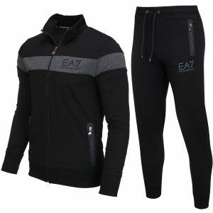 Komplet dresowy spodnie bluza dres Emporio Armani EA7 czarny
