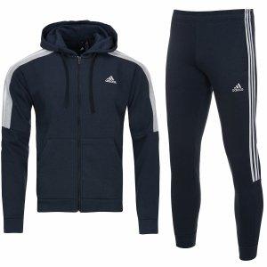 Adidas męski sportowy dres komplet granatowy