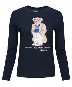 Polo Ralph Lauren longsleeve bluzka damska z misiem