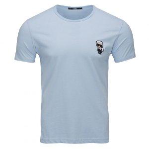 Karl Lagerfeld  t-shirt koszulka męska błękitna