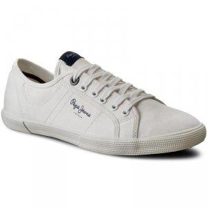 Pepe Jeans buty męskie białe tenisówki Aberman 2.1 PMS30352 800 White