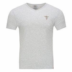 Aeronautica Militare t-shirt koszulka v-neck męska szara
