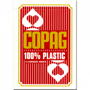 Karty Copag 100% Plastic 4x IND RED