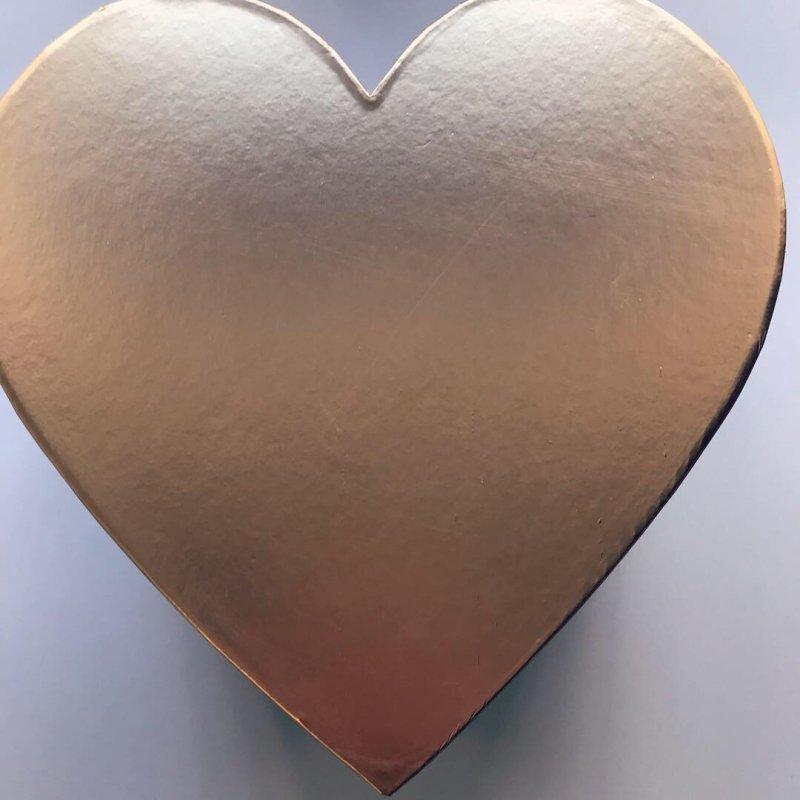 Box serce róże wieczne i  Ferrero Rocher