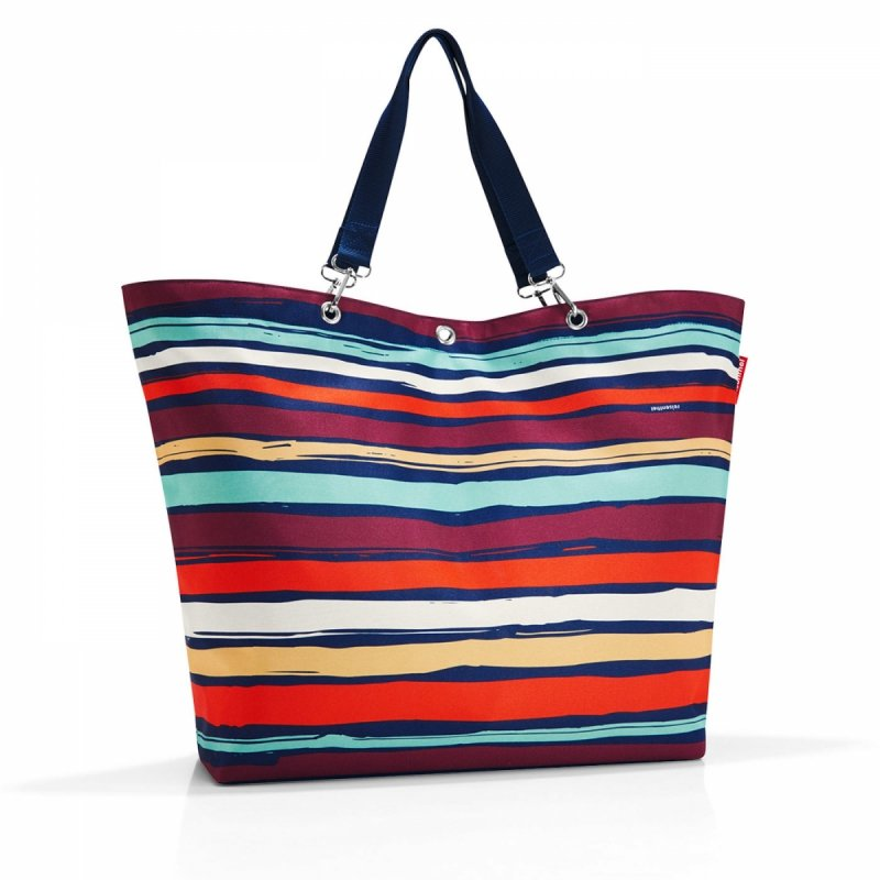 Torba na zakupy Shopper XL kolor Artist Stripes, firmy Reisenthel