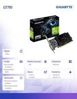 Karta graficzna GeForce GT710 2GB DDR5 64BIT DVI/HDMI/Low Profile