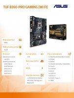 Płyta główna TUF B360-PRO GAMING (WIFI) s.1151 4DDR4 HDMI/VGA ATX
