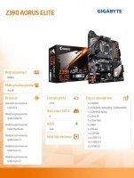 Płyta główna Z390 AORUS ELITE s1151 4DDR4 HDMI/USB 3.1 M.2 ATX