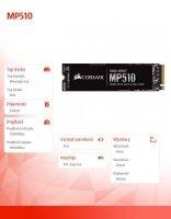 Dysk SSD 240GB MP510 Series 3100/1050 MB/s PCIe M.2