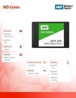 Green SSD 480GB SATA 2,5'' WDS480G2G0A