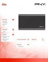 Dysk SSD Elite 480GB USB 3.1 PSD1CS1050-480-FFS