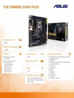 Płyta główna TUF Gaming Z490-PLUS s1200 4DDR4 HDMI/DP ATX