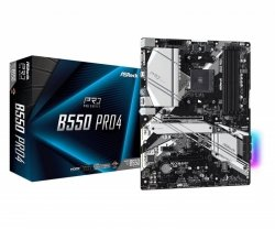 Płyta ASRock B550 Pro4/AMD B550/DDR4/SATA3/M.2/USB3.1/PCIe4.0/AM4/ATX