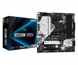 Płyta ASRock B550M Pro4/AMD B550/DDR4/SATA3/M.2/USB3.1/PCIe4.0/AM4/mATX