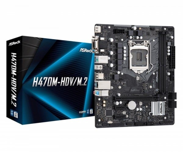 Płyta ASRock H470M-HDV/H470/DDR4/SATA3/M.2/USB3.1/PCIe3.0/M.2/s.1200/mATX