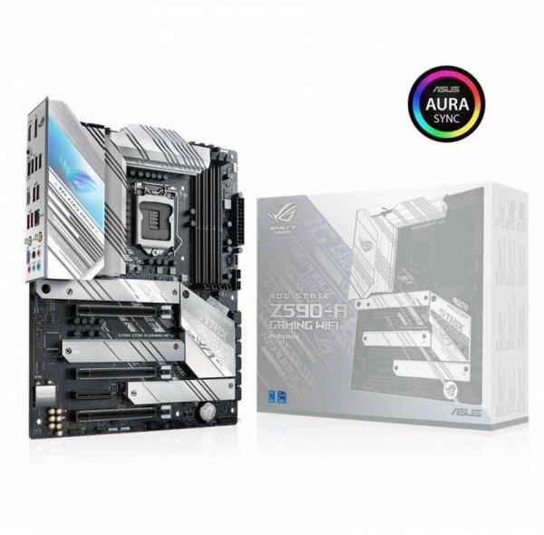 Płyta Asus ROG STRIX Z590-A GAMING WIFI /Z590/DDR4/SATA3/M.2/USB3.2/WiFi/BT/PCIe4.0/s.1200/ATX