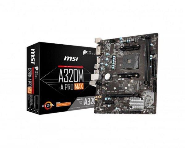 Płyta MSI A320M-A PRO MAX /AMD A320/DDR4/SATA3/USB3.0/PCIe3.0/AM4/mATX