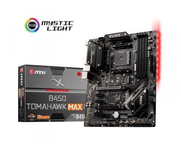 Płyta MSI B450 TOMAHAWK MAX II /AMD B450/DDR4/SATA3/M.2/USB3.1/PCIe3.0/AM4/ATX