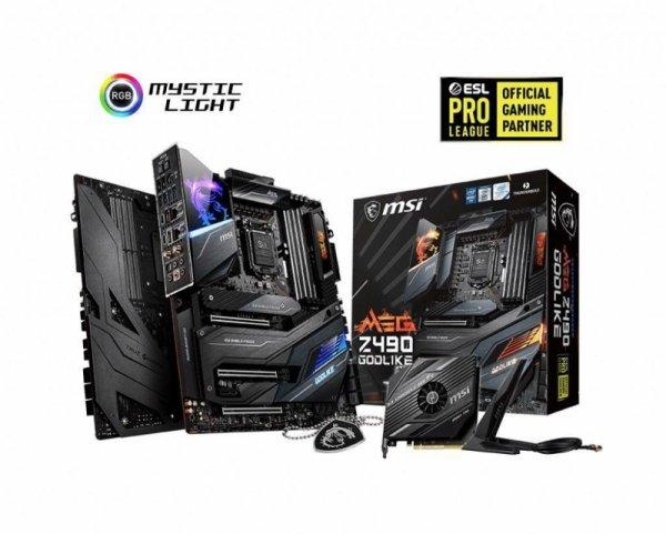 Płyta MSI MEG Z490 GODLIKE /Z490/DDR4/SATA3/M.2/USB3.1/WiFi/BT/PCIe3.0/s.1200/EATX