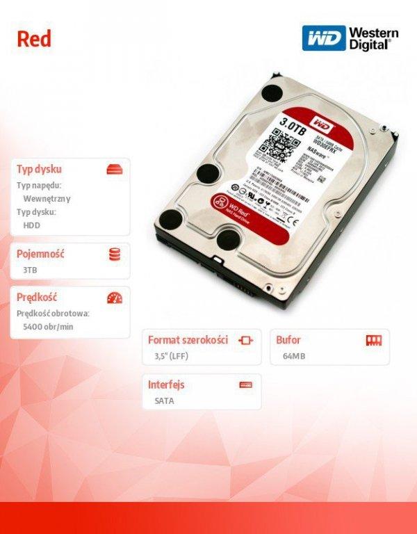 WD Red Plus 3TB 3,5' CMR 64MB / 5400RPM Class