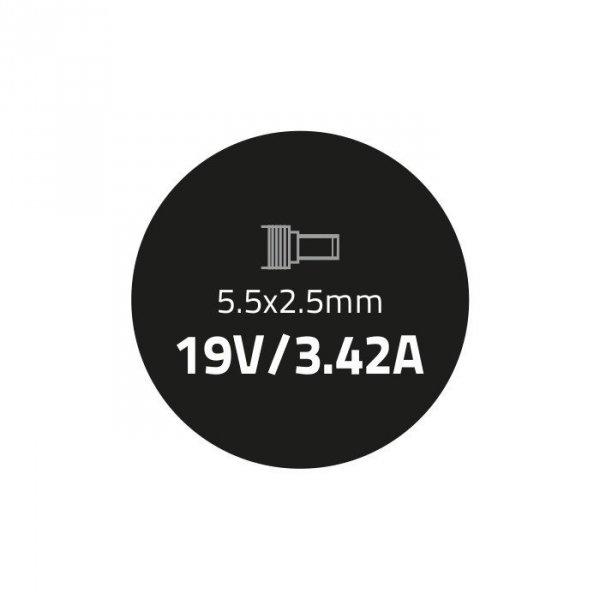 Zasilacz do laptopa 65W   19V   3.42A   5.5*2.5