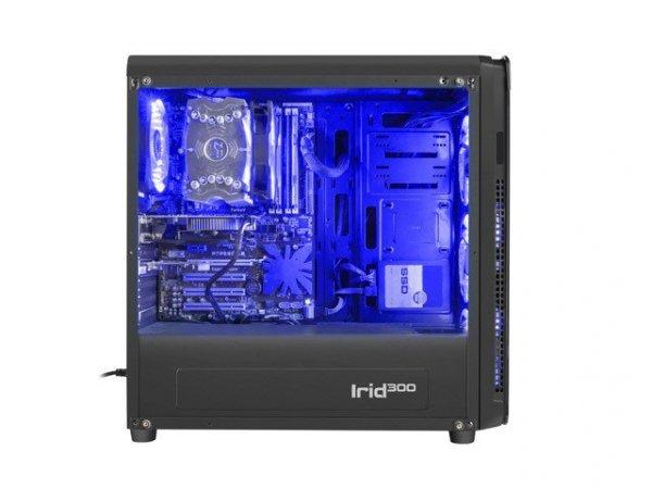 Obudowa Genesis Irid 300 USB 3.0 z oknem niebieskie podświetlenie