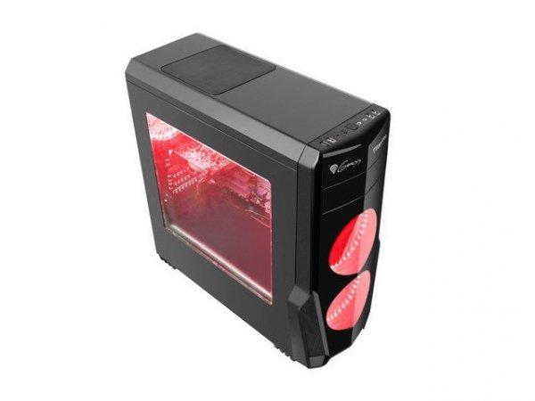 Obudowa Genesis Titan 800 USB 3.0 z oknem czerwone podświetlenie