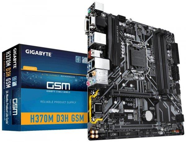 Płyta główna H370M D3H GSM S1151 4DDR4 HDMI/DVI/VGA/USB 3.1 M.2 m-ATX