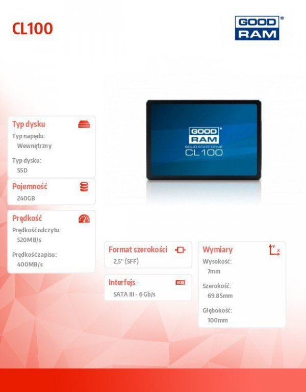 Dysk SSD CL100 G2 240GB  SATA3 2,5