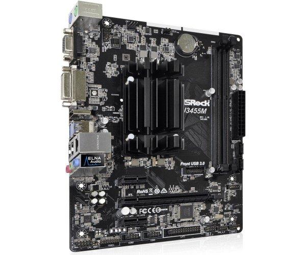 Płyta główna J3455 Apollo Lake 2DDR3 2SATA3 HDMI/DVI/D-Sub mATX